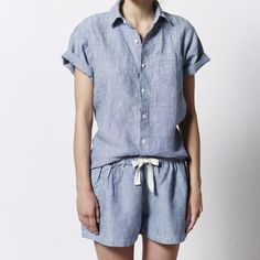 linen pajama set from in bed #minimal