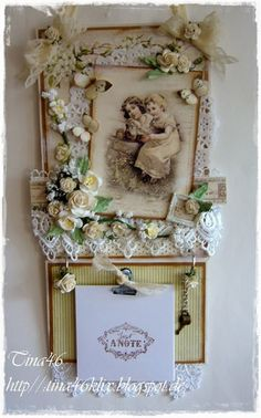 """Hanging with Notes by LLC DT Member Tina Klix. Image & papers from Pion Design's """"A Day in May"""" collection."""