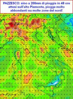 Tra le righe...: MALTEMPO estremo tra mercoledi 25 e giovedi 26 sull'Italia? Previste piogge preoccupanti!