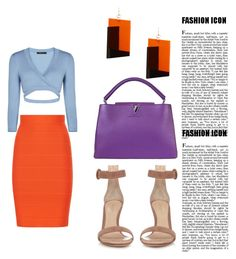 """""""Untitled #719"""" by stejadao ❤ liked on Polyvore featuring BCBGMAXAZRIA, Louis Vuitton, Gianvito Rossi and MANGO"""