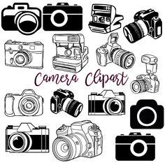 Camera Clipart Clip Art, INSTANT DOWNLOAD Photography Logo