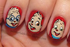 Check out this blog... this gal does nail art with all of the cartoons and animated movies we loved as kids!  So cool!