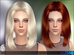 The Sims Resource: Alesso - Stone Hair • Sims 4 Downloads