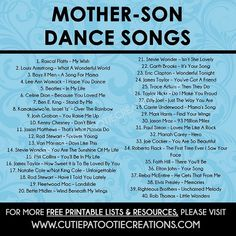 Mother Son Dance Songs for Mitzvahs and Weddings - FREE Printable List wedding songs Mother Son Dance Songs for Mitzvahs and Weddings - Top 40 Songs - FREE Printable List Wedding Song Playlist, Wedding Song List, Wedding Music, Wedding Tips, Free Wedding Stuff, Wedding Planning Quotes, Wedding Planner, Wedding Photos, Dream Wedding