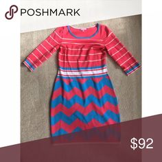 Lilly Pulitzer Chevron and Striped Dress Brand New Without Tags Lilly Pulitzer Dresses
