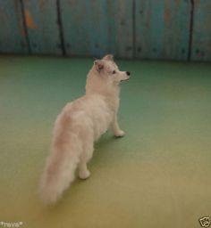 OOAK Realistic Arctic Fox Handmade Dollhouse Miniature 1 12 Scale | eBay. By Reve.