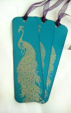 Peacock Bookmark by HoneyWildPapercraft
