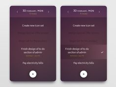 Daily UI challenge #042 — ToDo List by Alexander Cafa