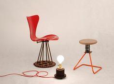 Designers criam objetos feitos com peças que estão nos bastidores das nossas vidas