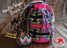 Mochila Wayuu Crochet Purses, Crochet Videos, Jansport Backpack, Vera Bradley Backpack, Backpacks, Knitting, Bags, Community, Hot Pink