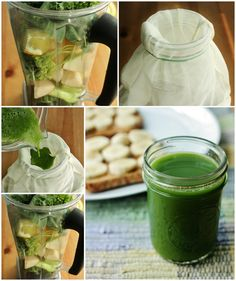 How to make green juice using a Vitamix or blender!