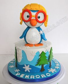 This time she chose Pororo as the main theme and this was what we created for them! Description from celebrate-with-cake.com. I searched for this on bing.com/images One Year Birthday, Birthday Cake, Birthday Ideas, Penguin Cakes, Main Theme, Cake Tutorial, Christmas Cookies, Theme Ideas, Decor Ideas