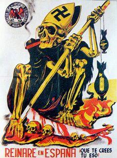 Anti-fascist poster. #Spain #war #poster