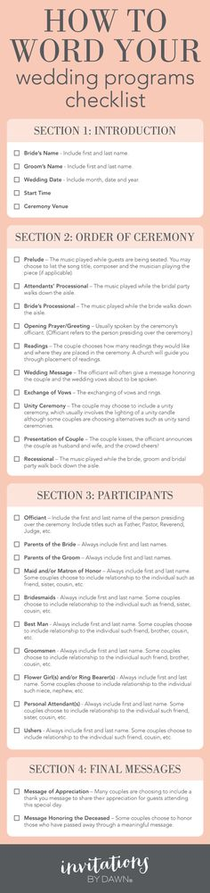A Checklist: How to