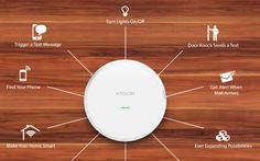 """In its maker's own words, Knocki can """"make any surface smart."""" It is a central control for the growing proliferation of smart home… #Gadgets"""