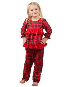 Laura Dare Christmas Morning Plaid Long Sleeve Pajama