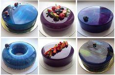 Reveal the secret mirror glaze / Amazing Cooking Sweet Cakes, Something Sweet, Corn Syrup, White Chocolate, Sweet Recipes, Fondant, Panna Cotta, Cake Decorating, Bacon
