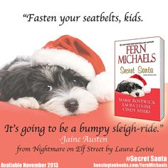 Sometimes the road to Christmas can get a little rough! Save yourself gift-giving stress and preorder #SecretSanta! #FernMichaels #MarieBostwick #LauraLevine #CindyMyers #Holiday #HolidayBooks http://sites.kensingtonbooks.com/FernMichaels/secret-santa.html