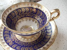 Antique English tea cup and saucer Royal Stafford by ShoponSherman