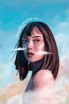 Artist @nelebalke Surrealism, Portrait, Artist, Anime, Illustrations, Headshot Photography, Artists, Illustration, Portrait Paintings
