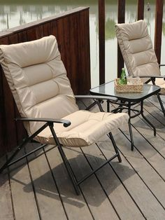 Cushion Color: Beige, Red Frame Color: Brown Overall Dimension: Chair: x x Table: x x Material: Steel frame with padded cushions Max loading weight: 300 lbs for the single chair Outdoor Chairs, Outdoor Furniture, Outdoor Decor, Patio Bar Stools, Single Chair, Bistro Set, Steel Frame, Cushions, Beige