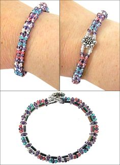 Exclusively designed for Harlequin Beads by our beading expert, this cheerful jewelry-making project creates a curved tennis-style bracelet with a...