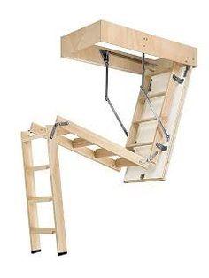 Escaleras plegables de altillo en madera rintar alina - Escaleras para altillos plegables ...