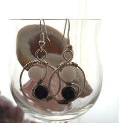 Yin Yang Inspired Earrings by AlisonsGemstones on Etsy
