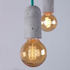 NUD Collection Concrete Base Pendant Light