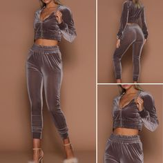 """💥PREORDERS💥 OPEN NOW on """"The Kylie"""" Euramerican Mandarin Collar Zipper Design Grey Two-piece Pants Set!! (cotton)   ALWAYS Free Shipping Within The US!! (SIZE UP WITH THIS ITEM) ✨Remember preorder can take 3-6 weeks to arrive✨ALL SALES ARE FINAL!! NO REFUNDS & NO EXCHANGES✨ 