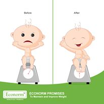 Weight-loss due to diarrhea can be reversed! Econorm helps in reversing the ill-effects of Diarrhea.