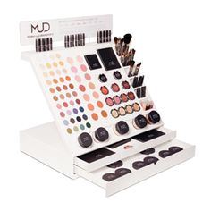 mud cosmetic display