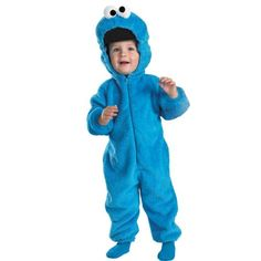 cool Cookie Monster Deluxe Two-Sided Plush Jumpsuit Costume