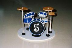 Custom Cake Topper - Drum Set (Great for a Boys Birthday Cake) topper for shower cake?