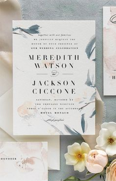 Pittsburgh Wedding Invitations for the Modern Bride Pastel Weddings, Dusty Blue Weddings, Romantic Weddings, Garden Wedding Inspiration, Wedding Ideas, Pastel Wedding Invitations, Industrial Wedding, Handmade Wedding, Wedding Vendors