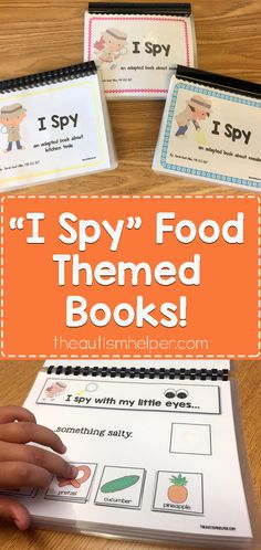 Try Sarah's food-themed adapted books to help with food descriptions & common cooking tool vocabulary! From theautismhelper.com #theautismhelper