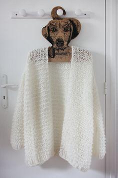 Le gros gilet blanc oversize. Veste Femme TricotTricot CrochetTricot ... 28cd527f21d