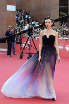 Lily Collins attends the ninth Rome Film Festival on Oct. 19, 2014, in Rome, Italy. WireImage -Cosmopolitan.com