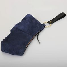 Suede Wristlet  Navy Blue by jillydesigns on Etsy, $89.00