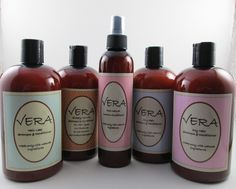 Vera Hair Care Products Made only with natural ingredients ( essential oils, carrier oils, pro vitamins, and botanical extracts).