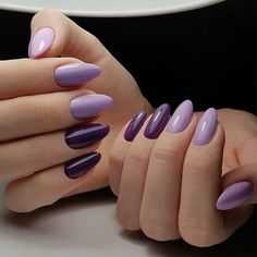 100 Long Nail Designs 2019 Ideas in our App. New manicure ideas for long nails. Trends 2019 in nails nail design Gradient Nails, Cute Acrylic Nails, Purple Nails, Purple Nail Designs, Acrylic Nail Designs, Popular Nail Designs, Wedding Nails Design, Hot Nails, Almond Nails
