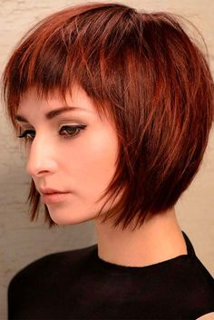 28 Adorable Short Layered Haircuts For The Summer Fun Layered Haircuts With Bangs, Short Hairstyles For Thick Hair, Short Hair With Bangs, Short Hair With Layers, Hairstyles With Bangs, Short Hair Cuts, Short Hair Styles, Short Razor Haircuts, Short Bob With Fringe