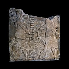 From the wall of the palace of King Ashurbanipal (reigned 669-630 BC) at Nineveh, northern Iraq. Neo-Assyrian, about 645 BC.