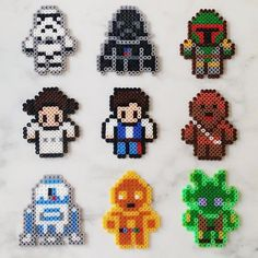 Star Wars characters perler beads by greybear