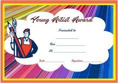 young artist award certificate