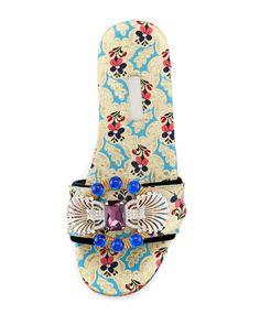 Designer Clothes, Shoes & Bags for Women Open Toe Flat Shoes, Open Toe Sandals, Slide Sandals, T Strap Flats, Strappy Flats, Miu Miu Sandals, Shoes Sandals, Michael Kors, Designer Shoes