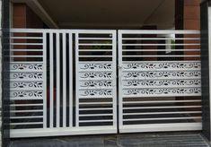 Modern Steel Gate Design, Steel Railing Design, Gate Designs Modern, Modern Design, House Main Gates Design, Front Gate Design, Cnc Cutting Design, Laser Cutting, Window Design