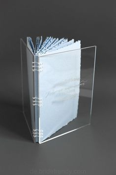 Engraved Acrylic Book Guest Book Wedding Wish book Coptic Design Instant book, Customized Clear Acrylic Book, Wedding guest book, Acrylic book with engraved
