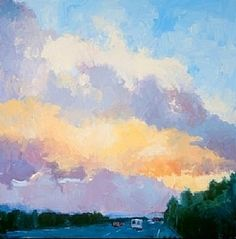 """""""Silicone Valley Storm"""" by Barbara Bailey-Porter Oil ~ 30 x 30"""