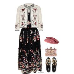 Wear it in a Lace Dress (outfit only!) Top Set April 3rd by ragnh-mjos on Polyvore featuring The 2nd Skin Co., River Island, Dune and Dolce&Gabbana